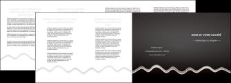 personnaliser maquette depliant 4 volets  8 pages  gris fond gris arriere plan MIF61875