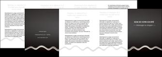faire modele a imprimer depliant 4 volets  8 pages  gris fond gris arriere plan MIF61881