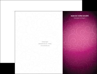 imprimer pochette a rabat fushia rose courbes MLGI61895