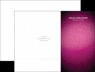 impression pochette a rabat fushia rose courbes MLGI61897