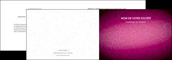 imprimerie depliant 2 volets  4 pages  fushia rose courbes MLGI61899