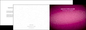imprimerie depliant 2 volets  4 pages  fushia rose courbes MLGI61901