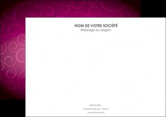 creer modele en ligne affiche fushia rose courbes MLGI61905