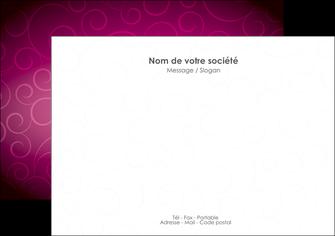 modele en ligne flyers fushia rose courbes MLGI61907