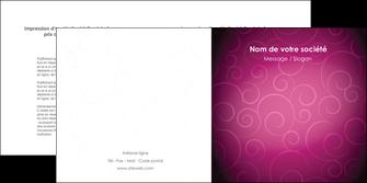creation graphique en ligne depliant 2 volets  4 pages  fushia rose courbes MLIG61913