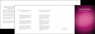 personnaliser modele de depliant 4 volets  8 pages  fushia rose courbes MLGI61927