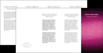 creer modele en ligne depliant 4 volets  8 pages  fushia rose courbes MLGI61931