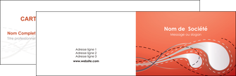 creation graphique en ligne carte de visite rouge couleur rouge orange MIF62005