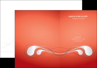 faire modele a imprimer pochette a rabat rouge couleur rouge orange MIF62009