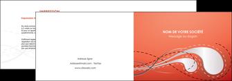 faire depliant 2 volets  4 pages  rouge couleur rouge orange MIF62013