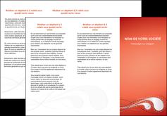 modele depliant 3 volets  6 pages  rouge couleur rouge orange MIF62023