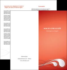 exemple depliant 2 volets  4 pages  rouge couleur rouge orange MIF62025