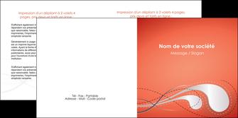creer modele en ligne depliant 2 volets  4 pages  rouge couleur rouge orange MIF62027