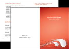 cree depliant 2 volets  4 pages  rouge couleur rouge orange MIF62037