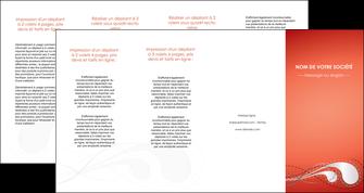 modele depliant 4 volets  8 pages  rouge couleur rouge orange MIF62043