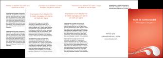 cree depliant 4 volets  8 pages  rouge couleur rouge orange MIF62045