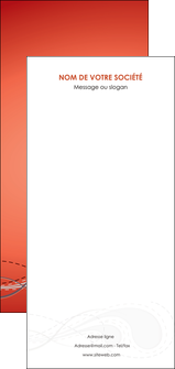 creer modele en ligne flyers rouge couleur rouge orange MIF62047