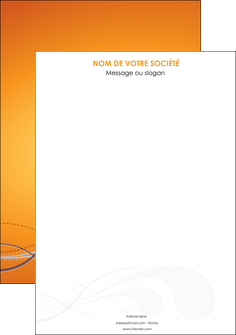 modele affiche orange abstrait abstraction MIS62051