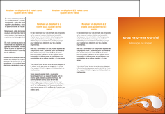 exemple depliant 3 volets  6 pages  orange abstrait abstraction MIS62075