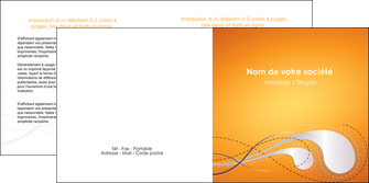 creer modele en ligne depliant 2 volets  4 pages  orange abstrait abstraction MIS62079