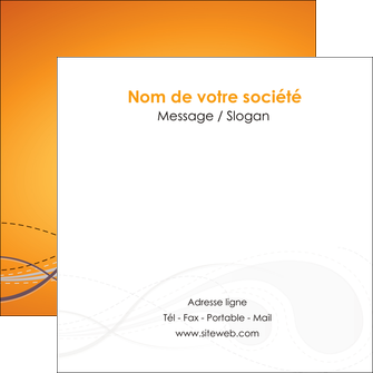 personnaliser modele de flyers orange abstrait abstraction MIS62083