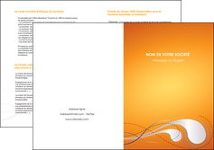 faire depliant 2 volets  4 pages  orange abstrait abstraction MIS62089