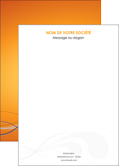 personnaliser modele de affiche orange abstrait abstraction MIS62093
