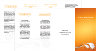 creation graphique en ligne depliant 4 volets  8 pages  orange abstrait abstraction MIS62095