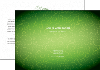 creation graphique en ligne set de table vert vignette fonce MLGI62159