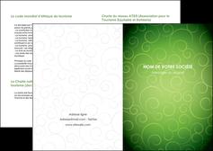 imprimerie depliant 2 volets  4 pages  vert vignette fonce MIF62165