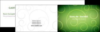 imprimerie carte de visite vert vignette fonce MIF62167