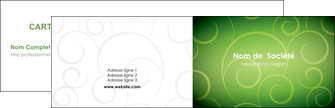 imprimerie carte de visite vert vignette fonce MLGI62167