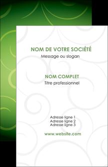 personnaliser maquette carte de visite vert vignette fonce MIF62169