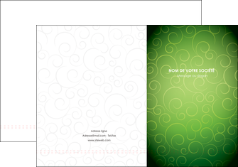 personnaliser modele de pochette a rabat vert vignette fonce MLIG62171