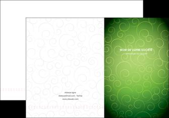 personnaliser modele de pochette a rabat vert vignette fonce MIF62171