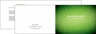 creation graphique en ligne depliant 2 volets  4 pages  vert vignette fonce MIF62175