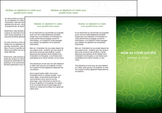 modele en ligne depliant 3 volets  6 pages  vert vignette fonce MLIG62185