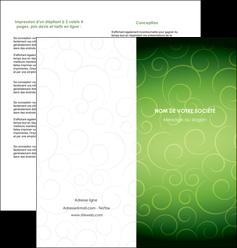 imprimerie depliant 2 volets  4 pages  vert vignette fonce MIF62187