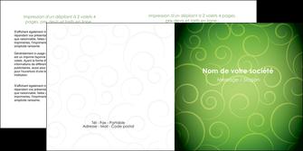 imprimerie depliant 2 volets  4 pages  vert vignette fonce MIF62189