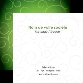 creation graphique en ligne flyers vert vignette fonce MIF62193