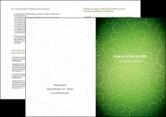 exemple depliant 2 volets  4 pages  vert vignette fonce MIF62199