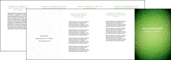 exemple depliant 4 volets  8 pages  vert vignette fonce MLIG62201