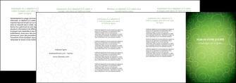 exemple depliant 4 volets  8 pages  vert vignette fonce MLGI62201