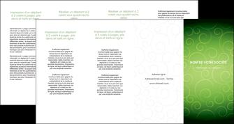 creer modele en ligne depliant 4 volets  8 pages  vert vignette fonce MLIG62205