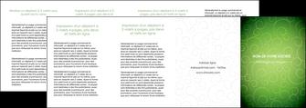 realiser depliant 4 volets  8 pages  vert vignette fonce MLIG62207