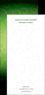 personnaliser modele de flyers vert vignette fonce MLIG62209