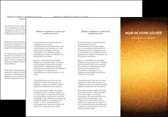 personnaliser modele de depliant 3 volets  6 pages  bijouterie dore abstrait abstraction MLIG62237