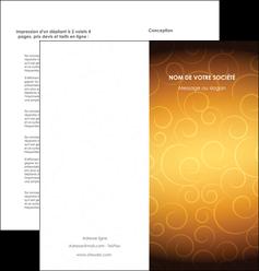 creer modele en ligne depliant 2 volets  4 pages  bijouterie dore abstrait abstraction MLIG62239
