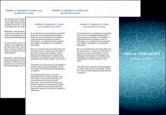 cree depliant 3 volets  6 pages  abstrait arabique design MLGI62289