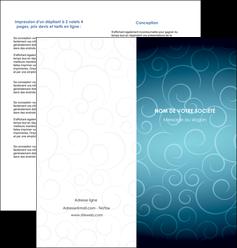 exemple depliant 2 volets  4 pages  abstrait arabique design MLGI62291